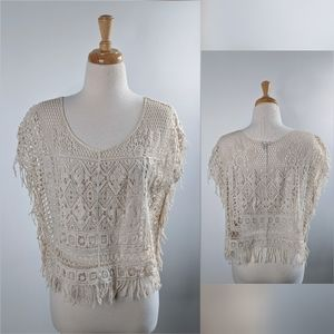 Ecoté   Urban Outfitters   crochet blouse   small
